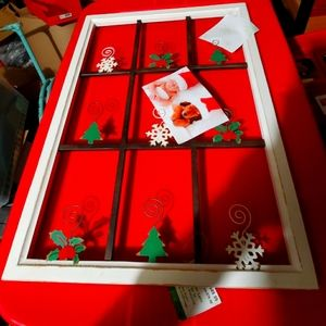 Wooden Christmas picture frame photo holder